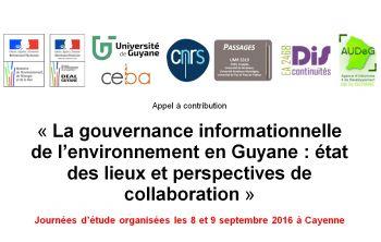 Ouverture des inscriptions pour les journées d'études sur la gouvernance informationnelle de l'environnement